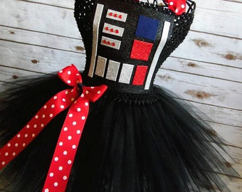 Darth Vader Inspired costume   tutu dress  costume  newborn- size 10 child listing