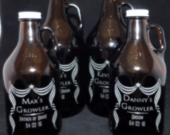 Growler, Best man gift, Groomsmen gift, Usher gift, Father of the Groom Gift, Wedding party Favors, Father of the Bride