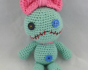 Crocheted Scrump inspired doll made to order