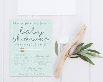 Printable Baby Boy Shower Invitation