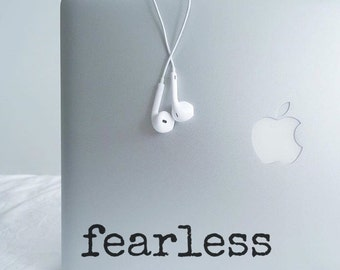 Fearless 1 - Vinyl Decal - Laptop Decal - Macbook Decal - Laptop Sticker - Macbook Sticker - Vinyl Sticker - Car Decal