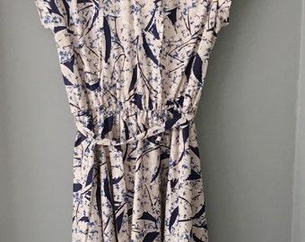 Paint Splatter Dress/1970's Vintage Dress/Abstract Vintage Dress