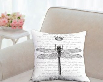 Dragon Fly with Crown Pillow