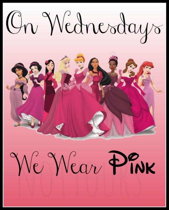 Mean Girls Quotes On Wednesdays We Wear Pink: Disney Princess Mean Girls Quote On By Fishygiftsandmore