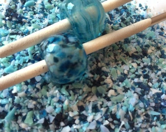 Naughty Blue - Glass Frit Blend - CoE 92 - 96 (suitable for use on glass COE 90 - 104) 25g