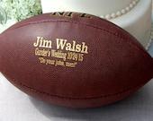 Personalized Football, Custom Engraved Football, Gifts for Men, Groomsmen Gift, Christmas Gift, College Football, Football Keepsake