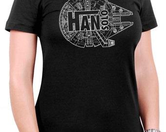 Han Solo - Millennium Falcon Women's T-Shirt