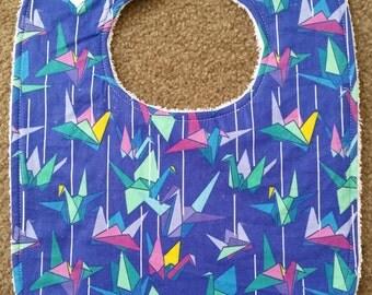 Origami Cranes Bib
