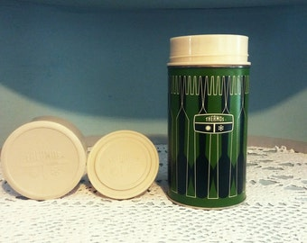 Summer2017 (10% Off) Vintage Thermos, 1970s, 1971 King - Seeley Thermos, Green, Travel, Camping, BBQ, Coffee, Gift for Dad