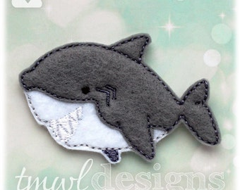 Shark Feltie Digital Design File - 1.75""
