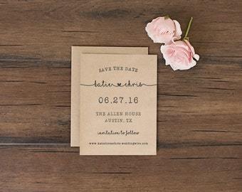 Save the Date Card \\ One Heart Collection