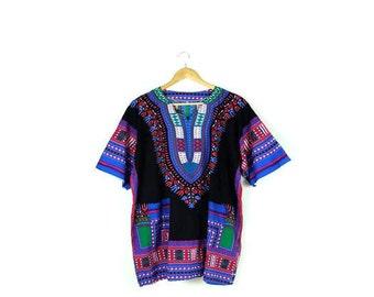 Vintage Ethnic India/Pakistan Cotton Short Sleeve Tunic from 1980's/Bell Sleeve*