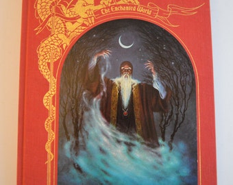 WIZARDS AND WITCHES from the Enchanted World series - a vintage Time-Life book with amazing old-school illustrations