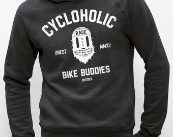 Hoodie · Cycloholic · Dark Heather grey