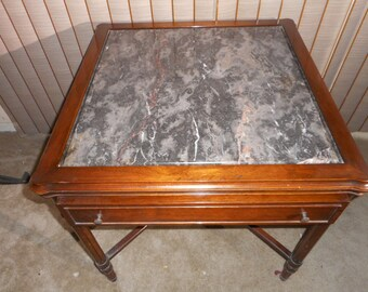 Antique inlaid marble top Table