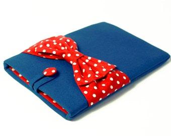 iPad Mini Case,Kobo Aura Case,Galaxy Case,Nexus Case,Custom Tablet Sleeve,Kindle Case,Kindle Paperwhite Case,Voyage Case-Blue Case,Red Bow