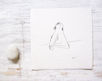pencil illustration, naive art, naive drawing, sketch, minimalist, ORIGINAL pencil art, pencil drawing, cute, girl, angry, feelings emotions