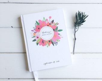 Floral Bridal Shower Guest Book. Bridal Shower Guestbook. Custom Bridal Shower Guestbook. Bride gift Keepsake. Journal Bride. Wishes Bride.