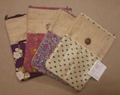 Burlap and Sari fabric iP...