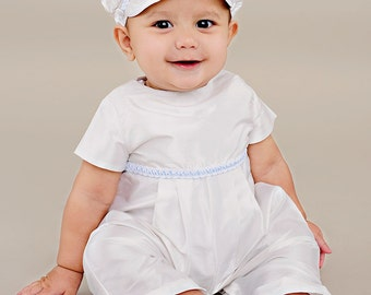 Boy's Christening Outfit, Baptism Romper-Francis