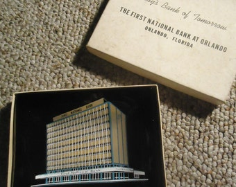 First National Bank of Orlando Florida Ashtray Tobacciana Vintage Florida