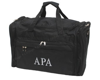 "Personalized Large Black 22"" Mens Duffle Bag | Monogram Boys Weekender Bag | Mens Overnight | Gym | Police Duffle Bag | Mens Travel Duffel"