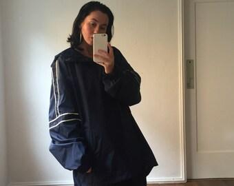 90s Oversized GRUNGE BABY Nylon Hooded Jacket