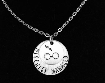 Mischief Managed Charm Necklace