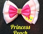 Princess Peach inspired bow
