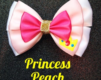 Princess Peach inspired bow