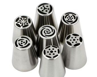 7 pc XXL Flower Pastry Russian Design Icing Cake Decoration Piping Tips