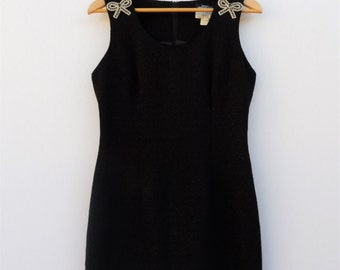 Sparkle Black Bow Dress