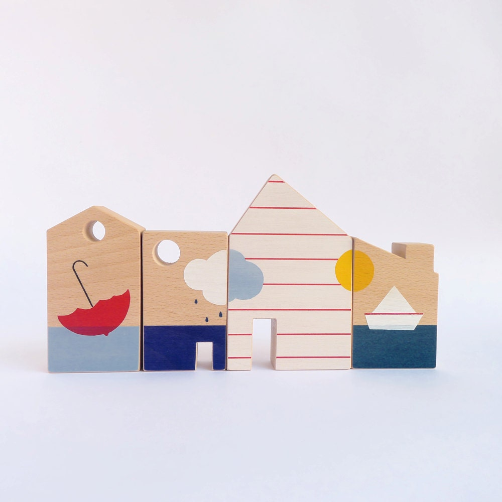 Wooden Toy Blocks Eco Friendly Kids Room By
