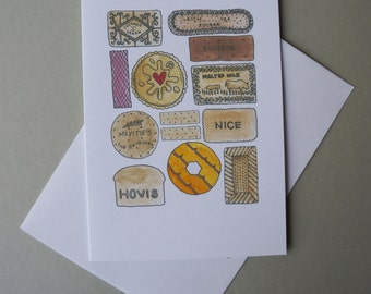 Illustrated Card - Biscuit collection!