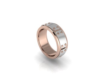 Riveted 7mm Steampunk Two Tone Band in Your Choice of Metals!