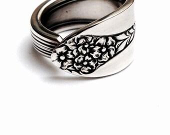 Vintage Silver Spoon Ring - circa 1930