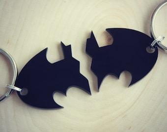Best Friends 2 Pc Batman Keychain Set Dynamic Duo