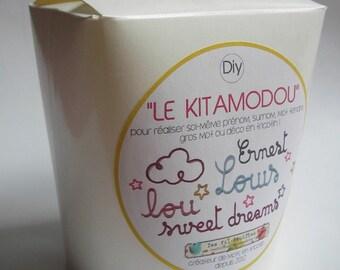 Word or name in French knitting Kit (DIY)
