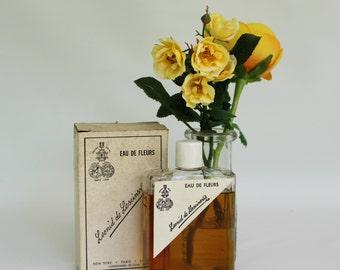 Vintage Leonid de Lescinskis Eau De Fleurs 8 Oz Splash Bottle Perfume in Original Box, Large 8 Fluid Ounces Leonid de Lescinskins Perfume