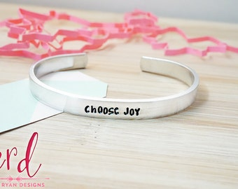 Choose Joy Cuff Bracelet | Daily Reminder | Inspirational | Hand Stamped Cuff