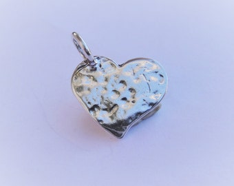 925 sterling silver heart charm, silver heart, vermeil heart, heart , sterling silver heart, heart charm