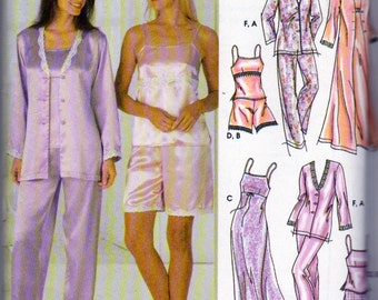 Simplicity 5933, Misses Lingerie and Lounge Wear, Pajamas Baby Doll s, Wardrobe Sewing Pattern, Sizes 14 to 24, Bust Size 36 to 46 Inches