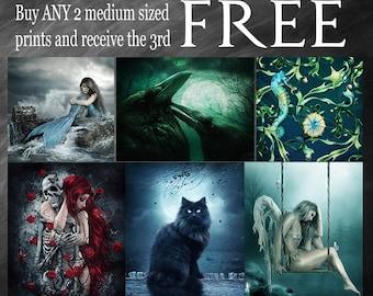 Buy 2 Get 1 Free, fantasy prints, Gothic prints, Scenery prints, Animal prints,artwork prints, Enchanted Whispers prints, Jessica Allain art