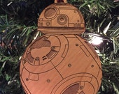 Star Wars BB-8 Droid Wooden Ornament