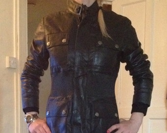 Leather Jacket Brian in Genuine Calf Distressed Leather