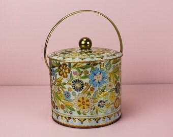 Vintage Floral Daher Tin