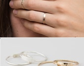 Dainty Bar Ring /  Personalized Ring (or blank) / Stacking Ring  / Custom Name / Hand Stamped / 14k Gold Fill, Sterling Silver