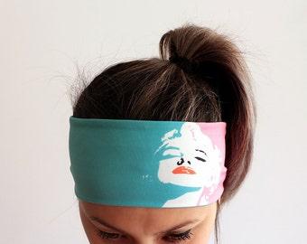 Running Headband - Yoga Headband - Fitness Headband - Workout Headband - Boho Headband - double layer - Marilyn Monroe Headband Y21