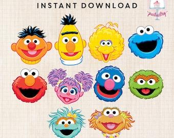 Sesame Street Characters Head Clipart