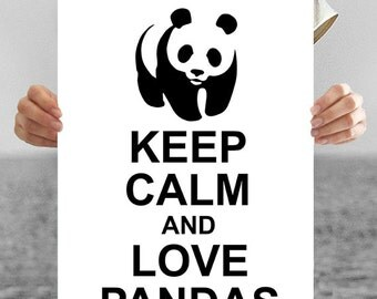 Panda Print: Keep Calm and Love Pandas